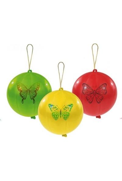 Balon İpli Punch Karışık Renk Desenli 100 lü