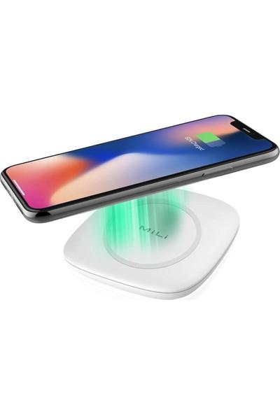Mili Magic Plus 7.5W Kablosuz Wireless Şarj Cihazı - Beyaz