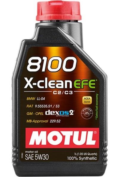 Motul 8100 X-Clean Efe 5W30 1 Litre