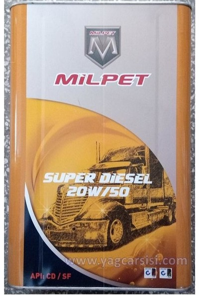 Milpet Süper Dizel 20W50 Teneke 16 Litre