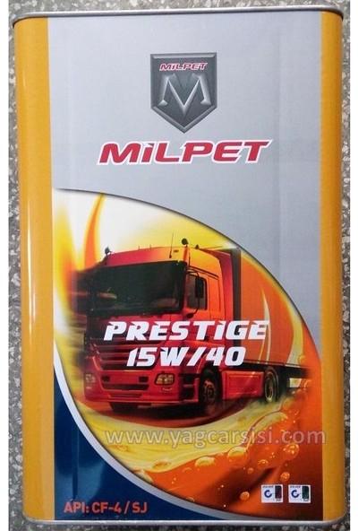 Milpet Prestige 15W40 Teneke 16 Litre