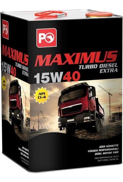 Petrol Ofisi Maximus Turbo Diesel Extra 15W40 18 Litre (16 Kg)