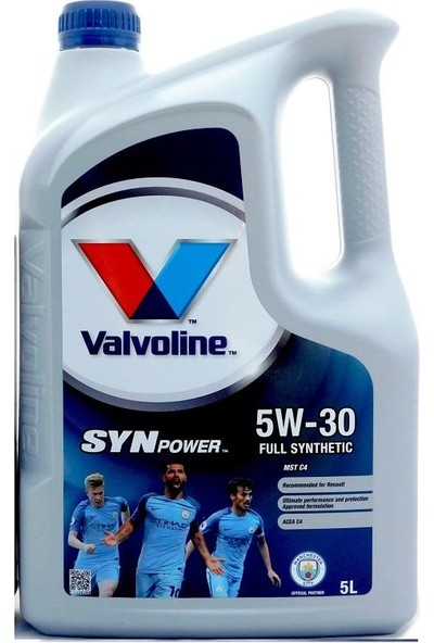 Valvoline Synpower Mst C4 5W30 5L Rn 0720-Acea C4-Mb 226.51