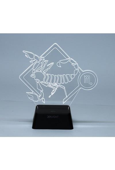 3D Light Yengeç Burcu 3D Lamba