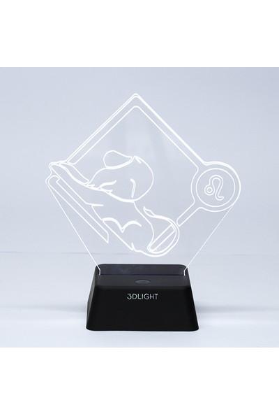 3D Light Aslan Burcu 3D Lamba