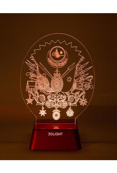 3D Light Osmanlı Tuğrası 3D Lamba