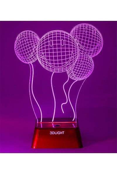 3D Light Gülenyüz 3D Lamba