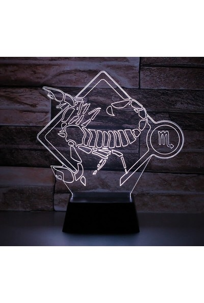 3D Light Akrep Burcu 3D Lamba