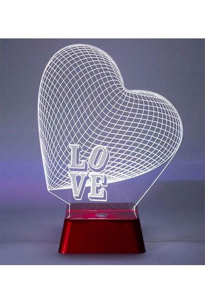3D Light Love 3D Led Lamba