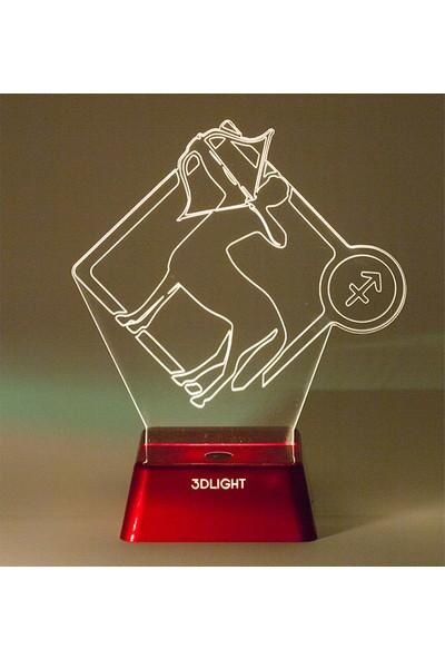 3D Light Yay Burcu Kişiye Özel Gece Lambası