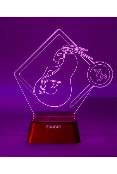 3D Light Oğlak Burcu 3D Lamba