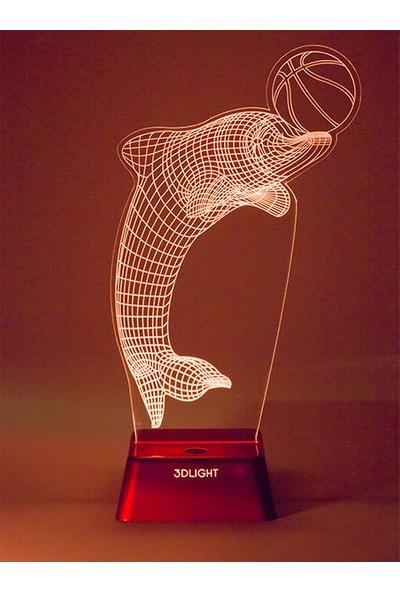 3D Light Yunus Balığı 3D Lamba