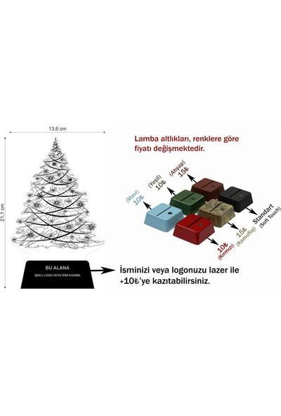 3D Light Yılbaşı Ağacı 3D Lamba