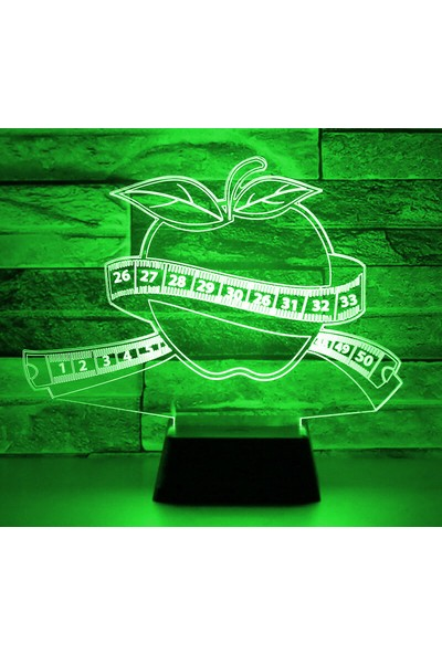 3D Light Elma 3D Gece Lambası