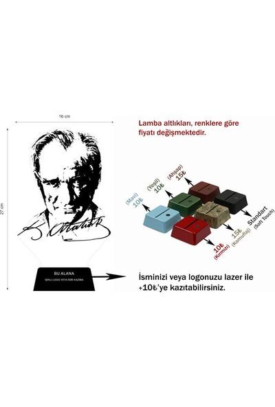 3D Light Atatürk 3D Lamba