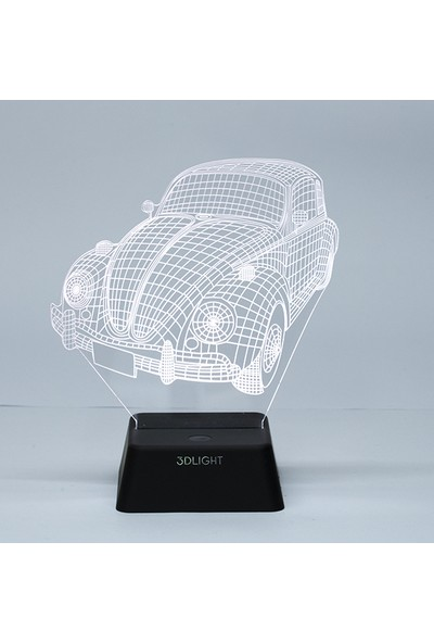 3D Light Vw Kaplumbağa 3D Lamba
