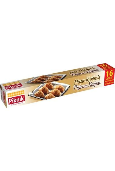 Piknik Gıda Ambalaj Pişirme Kağıdı Hazır Kesilmiş 16'Lı