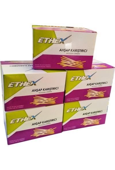 Ethex Ahşap Karıştırıcı 700'Lü 5 Paket - 3500' lü