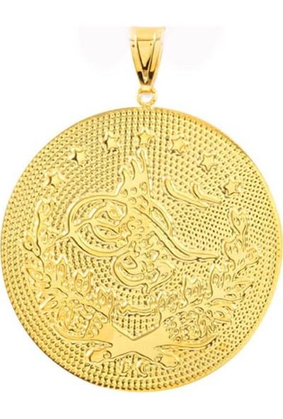 Myra Gold 3,5 Cm Büyük Boy Altın Tuğra Kolye Ucu (Uc0004)