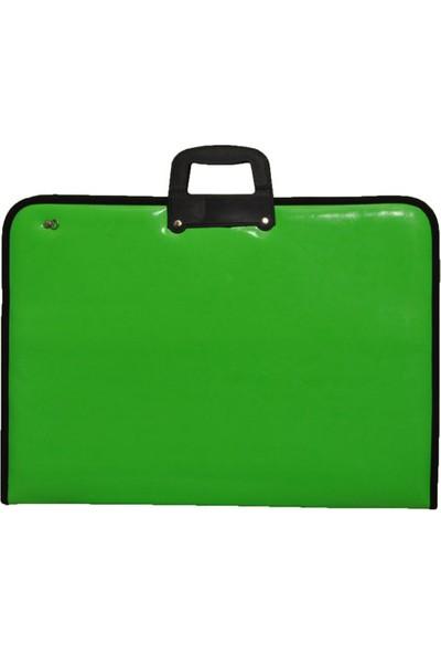 Gözde Proje Suni Deri 38*53*5 cm Neon Yeşil Proje Çantası