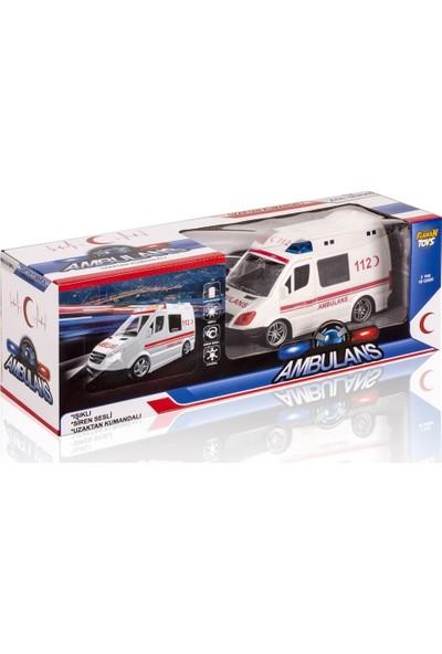 Furkan Toys Uzaktan Kumandalı Sirenli Işıklı Ambulans