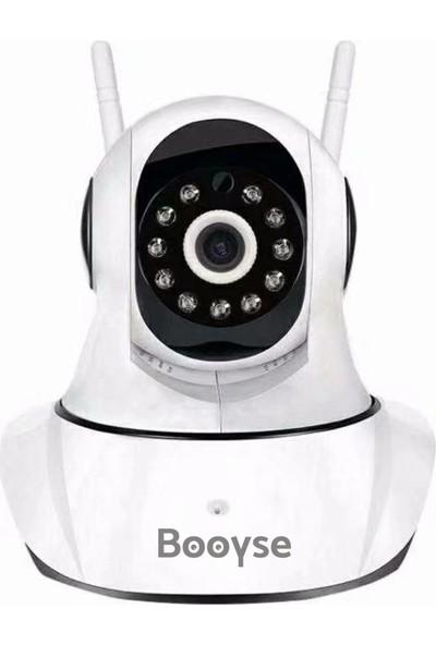 Booyse IP610C HD 1MP Hareketli Gece Görüşlü Wifi Bebek Güvenlik IP Kamera