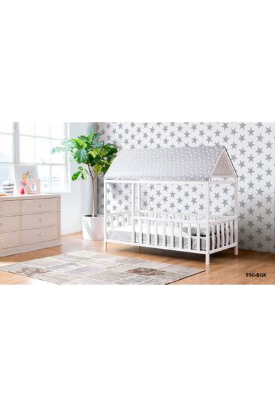 Yıldız Mobilya Montessori Yatak Gri - 950 Bgk - Genç - Çocuk Karyolası