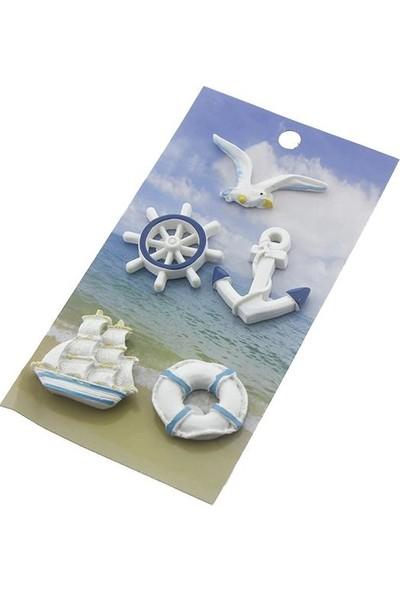 Mutlu Adım Karışık Denizcilik Bibloları Deniz Yelkenli