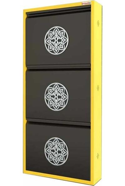 Pappuchbox Metal Ayakkabılık Pappuchbox 3lü DE5008