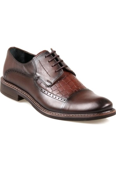 Rego 1266 Erkek Kahverengi Deri Klasik Eva Taban Ayakkabı