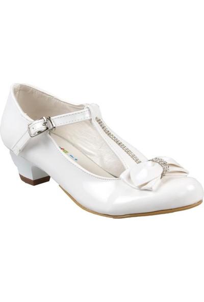 Sema Kız Çocuk Topuklu Beyaz Abiye Ayakkabı