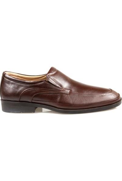 Tardelli Erkek Ortapedik Kahverengi Deri Ayakkabı