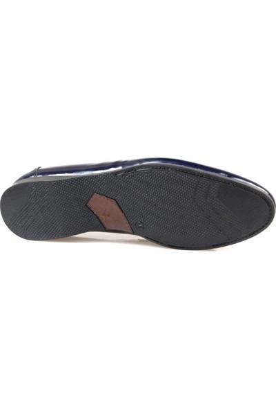 Fabiano Erkek Rugan Püsküllü Lacivert Günlük Ayakkabı