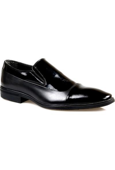 Tardelli 3606 Erkek Siyah Rugan Klasik Ayakkabı