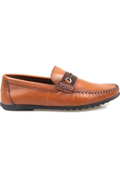 Tardelli Erkek Ortapedik Taba Deri Günlük Ayakkabı