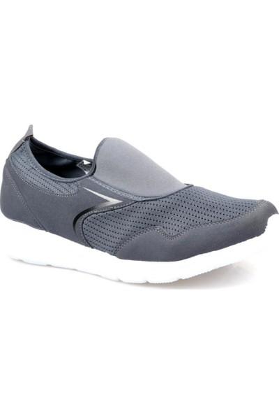 Pro Tracker Erkek Bağcıksız Gri Günlük Rahat Spor Ayakkabı