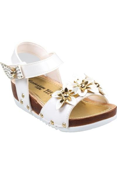 Cansun Life Kız Çocuk Bebe Ortapedik Beyaz Günlük Sandalet