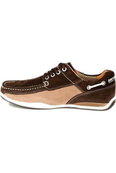 Greyder 00106 Erkek Kahverengi Nubuk Ayakkabı