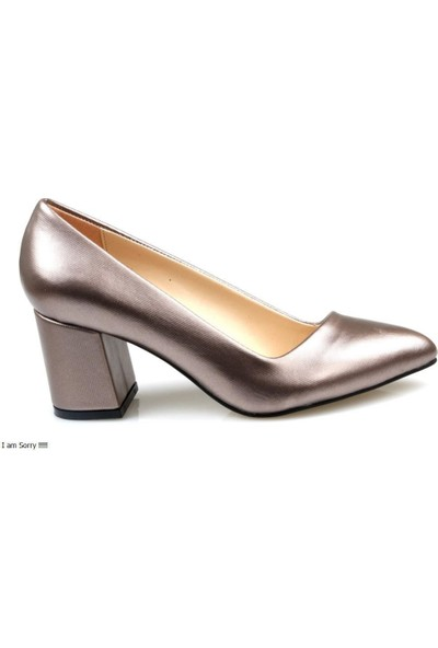Miss Belinda Kadın Topuklu Gümüş Renk Stiletto