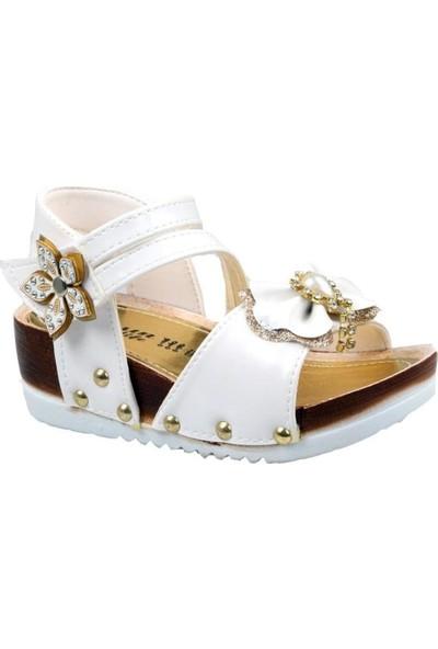 Cansun Life Kız Çocuk Ortapedik Beyaz Günlük Sandalet
