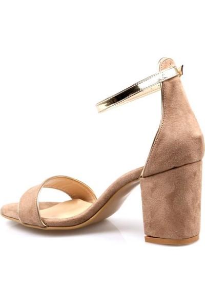 Miss Belinda Kadın Tek Bant Topuklu Süet Ayakkabı