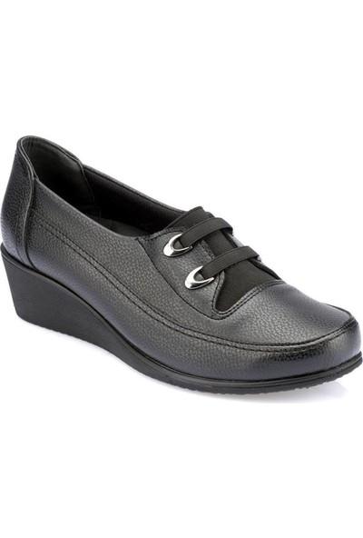 Polaris Otapedik 5 Nokta Siyah Kadın Ayakkabı
