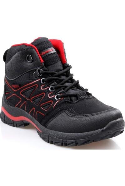 Piamond 10040 Siyah - Kırmızı Erkek Çocuk Trekking Bot