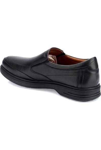 Polaris Ortapedik 5 Nokta Erkek Siyah Deri Ayakkabı