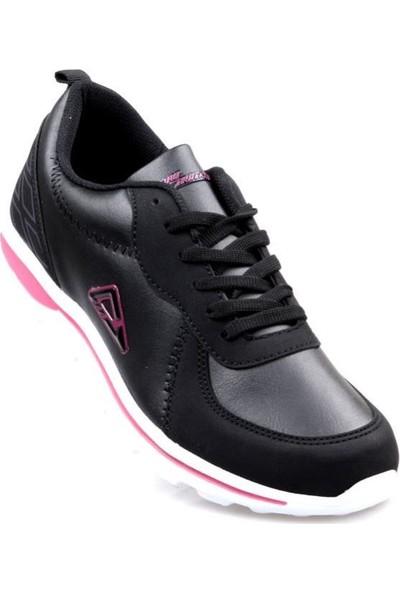 Pro Tracker Fless Siyah - Pembe Kadın Günlük Spor Ayakkabı
