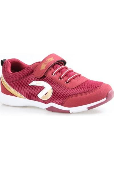 Disc Unisex (Erkek - Kız) Günlük Bordo Spor Ayakkabı