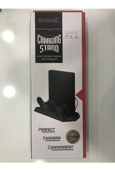 Kontorland Sony Ps4 Pro Konsol Standı Fanlı + Şarjlı