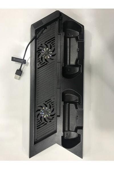 Kontorland Sony Ps4 Fat Konsol Standı Fanlı + Şarjlı