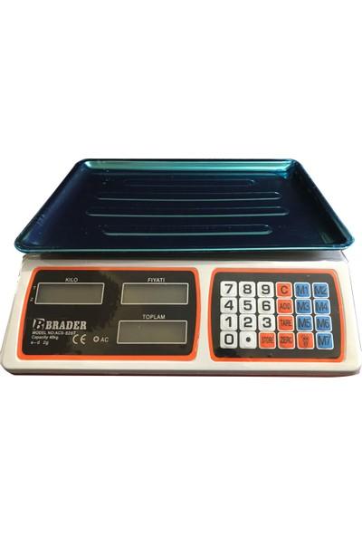 Brader Acs-8126T 40 Kg Pilli Ve Şarjlı Çift Taraflı Elektronik Terazi
