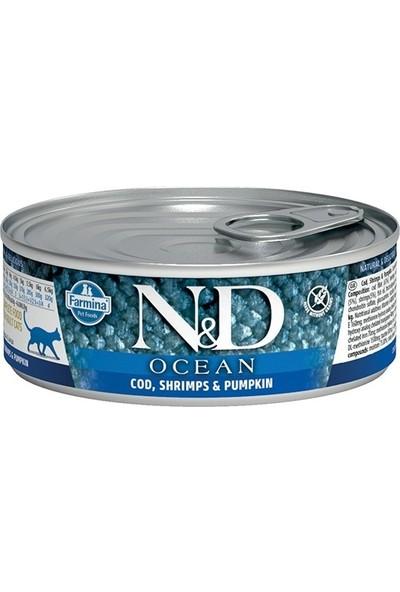 N&D Ocean Pumpkin Balkabaklı Morina Balıklı Karidesli Kedi Konservesi 80 gr